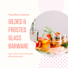 gilded and frosted glass barware workshop pop shop america