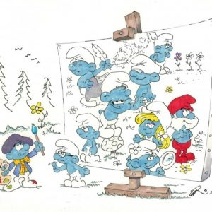 Painter Smurf Artwork by Gerard Baldwin | Smurfs Animator Gerard Baldwin