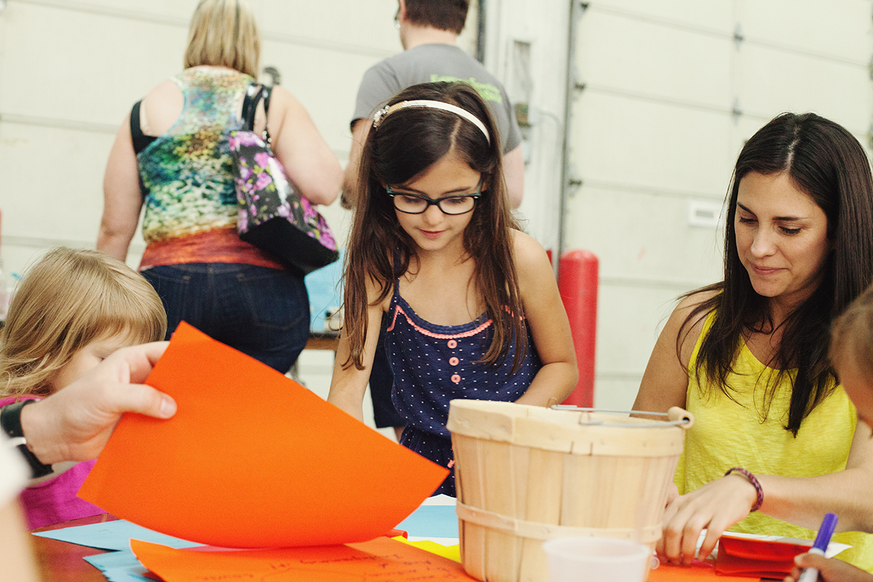 Crafting at Pop Shop Houston Festival | Craft Area with Kids