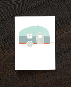 airstream greeting cards vintage camper card set