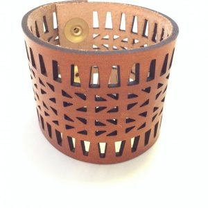 Laser Cut Leather Cuff by Curare Sweets