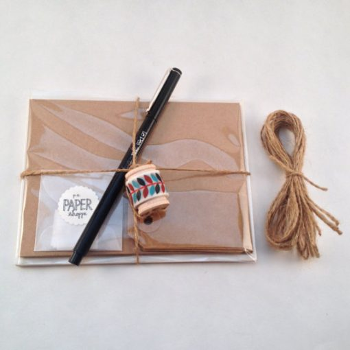 DIY Stationery Kit by PS Paper Shoppe   Make Your Own Cards with Craft Paper, Washi Tape, and Cute Add Ons   Handmade in Texas