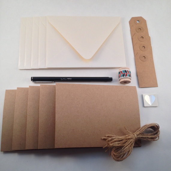 DIY Stationery Kit by PS Paper Shoppe   Make Your Own Greeting Cards Kit at Pop Shop America