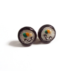 Cali Roll | Sushi Stud Earrings | Sushi Jewelry