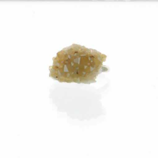 Citrine Geode Ring | Multi Faceted Raw Gemstone Ring