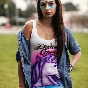 Airbrush Unicorn Tank Top
