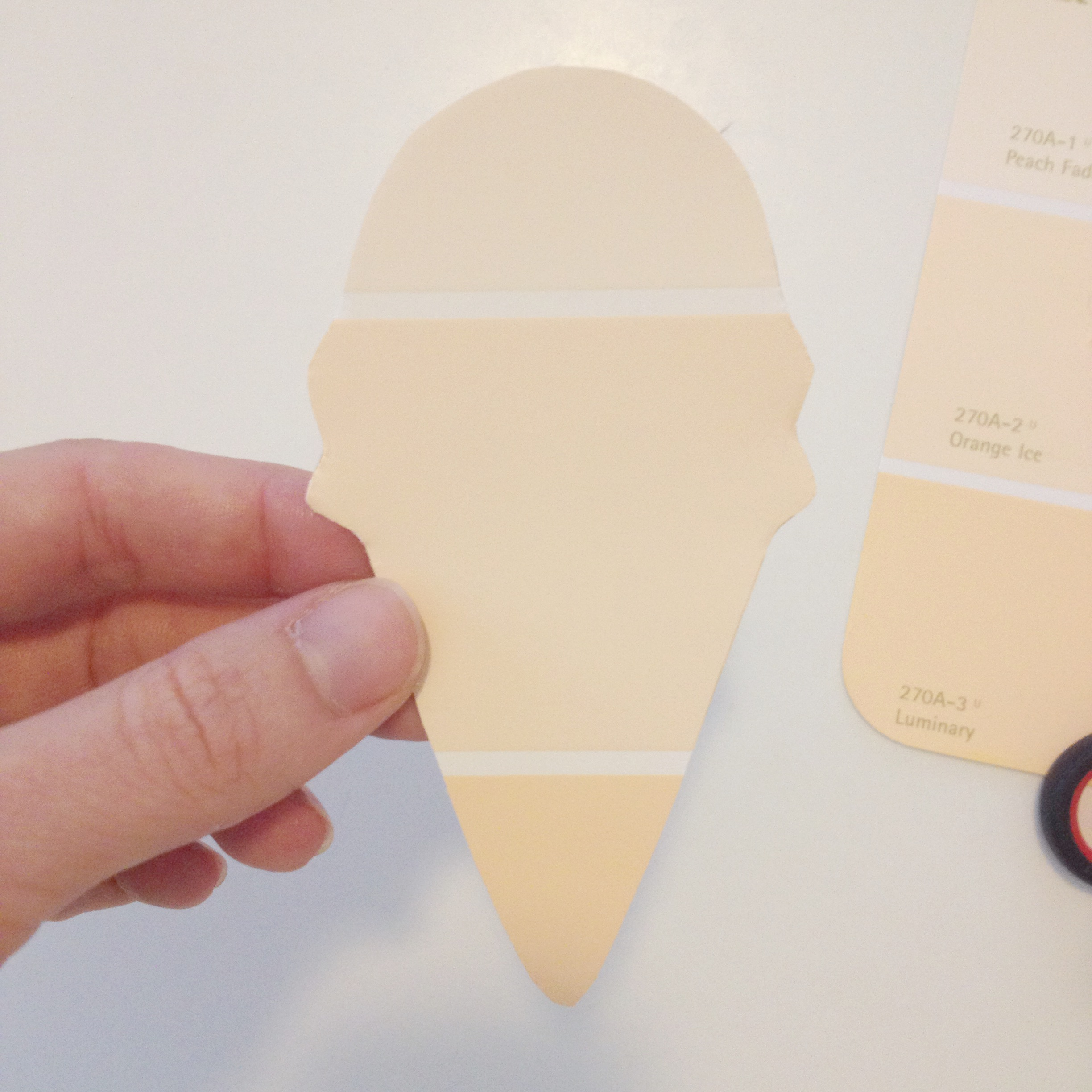 Cut Out an Ice Cream Cone Shape with a Cookie Cutter | DIY Garlands | Make Your Own Crafts with Paint Samples | Ombre Home Decor