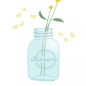 Mason Jar and Fireflies Drawing by Hazelmade | Cute Hand Drawn Greeting Cards by Hazelmade