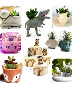 Cutest Ever Animal Planters | Dinosaur Terrariums | Fox Planter | Owl Terrariums | Turquoise Ceramics