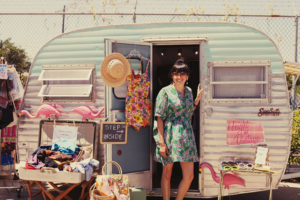 Vanessa from Height of Vintage | Height of Vintage Airstream Boutique | Vintage Clothing in Houston TX | Fashion Truck Collection City Centre