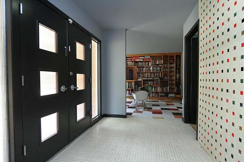 Atomic House Entrance | Mid Century Homes | Westbury Houston Homes