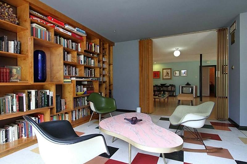 Library of Atomic House Houston | Midcentury Homes in Houston | Vintage Westbury Neighborhood | Parade of Homes