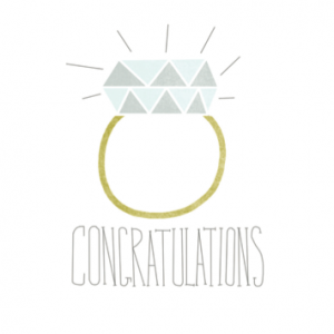 Diamond Ring Congratulations Card | Handmade Engagement Cards