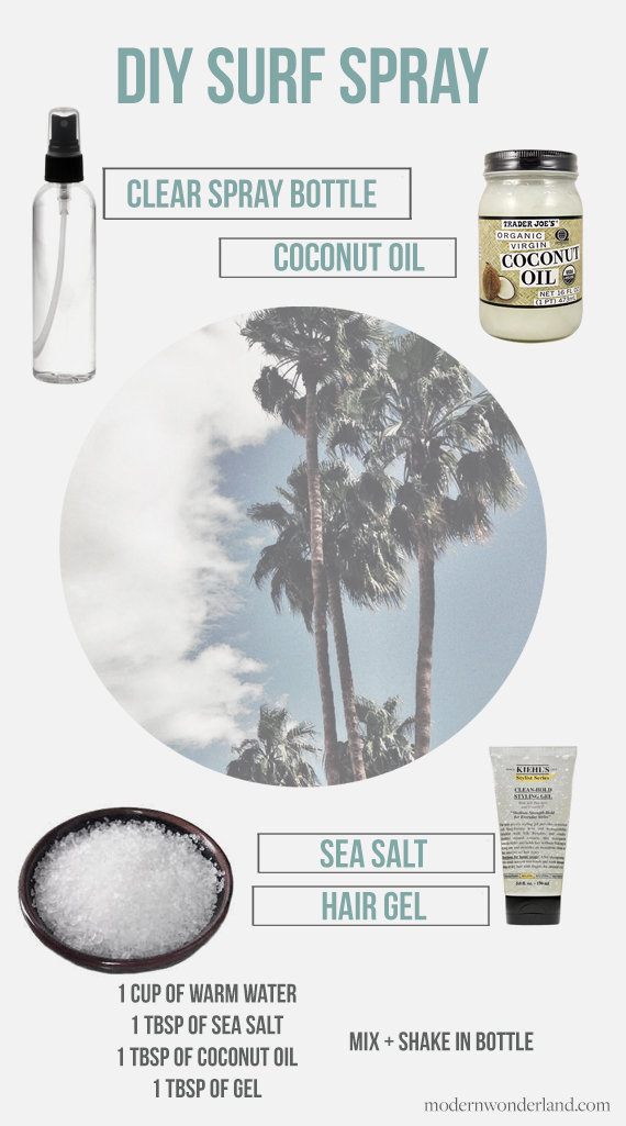 DIY Your Own Surf Spray from the Modern Wonderland Blog | Cool Summer DIY's | Make Natural Hair Products | From the Pop Shop America Blog