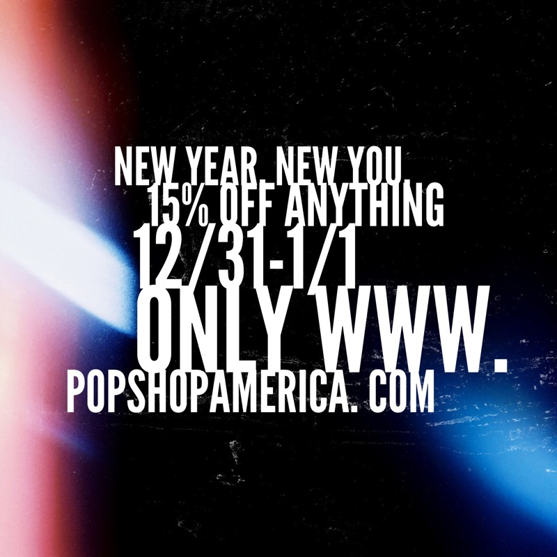 New Years Sale Promo Square from the Pop Shop America Online Shopping Website | Gift Shops Art for Sale Houston