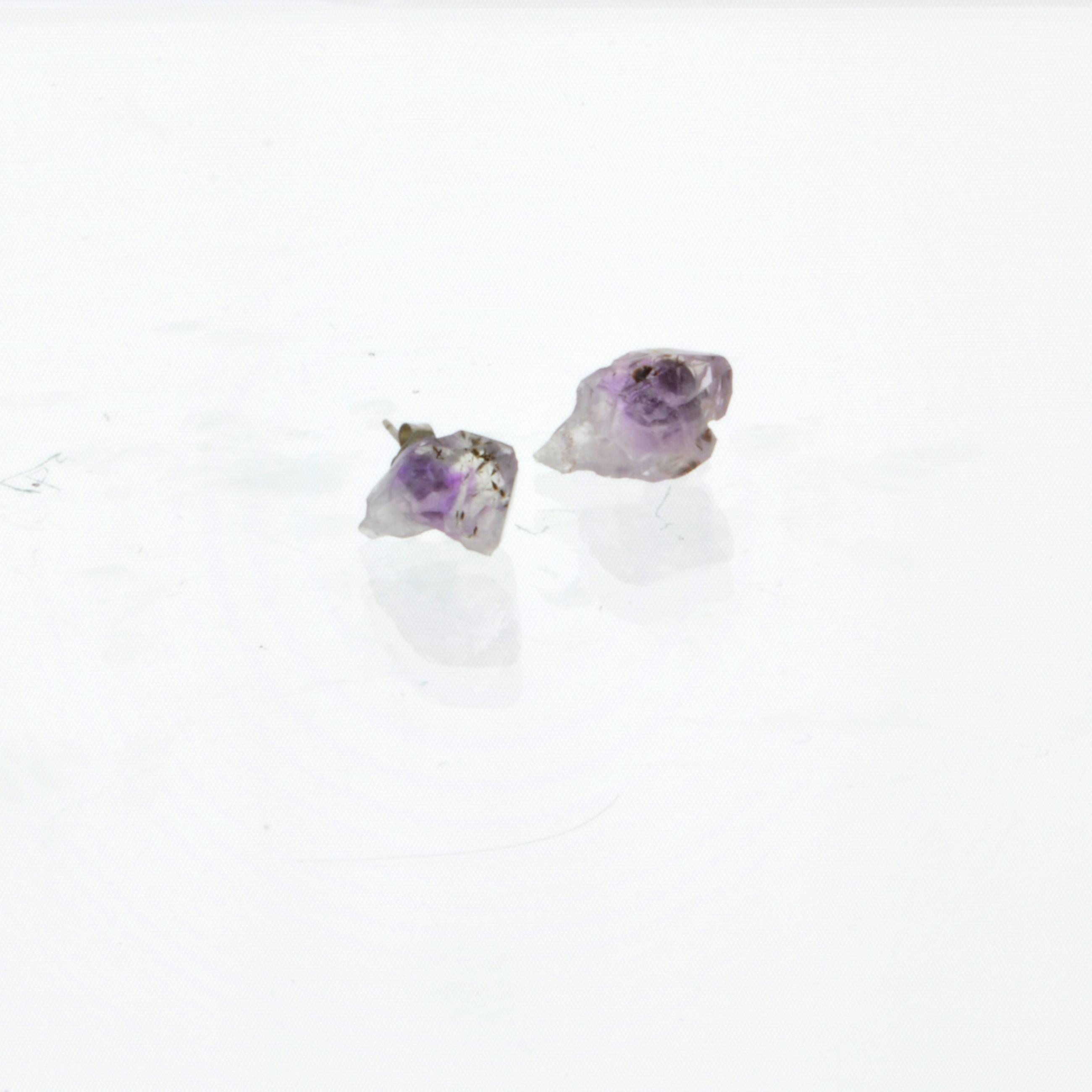 amethyst stud earrings pop shop america