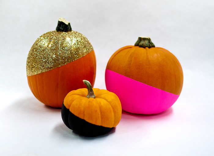 Color Block Pumpkins | DIY Pumpkin Ideas | Make Your Own Fall Decor