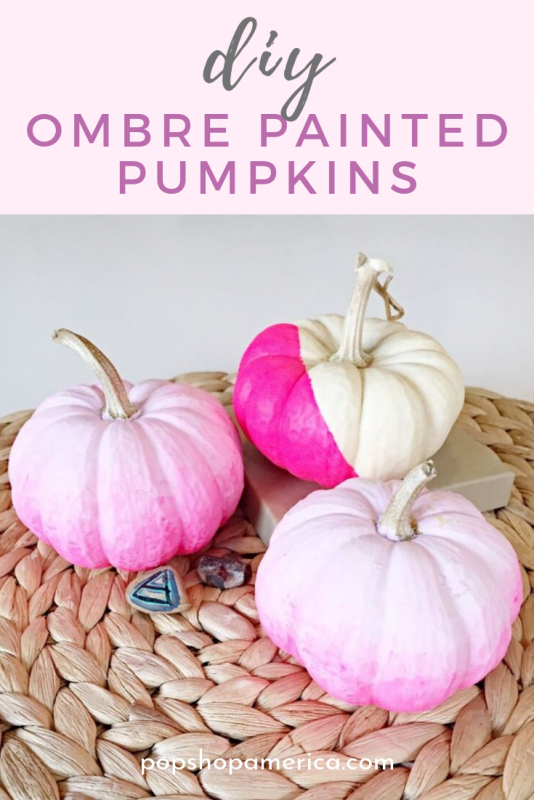 diy ombre painted pumpkins pop shop america