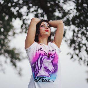 Airbrush Unicorn T Shirt | Dreams Come True | Handmade Clothing | Made in Texas