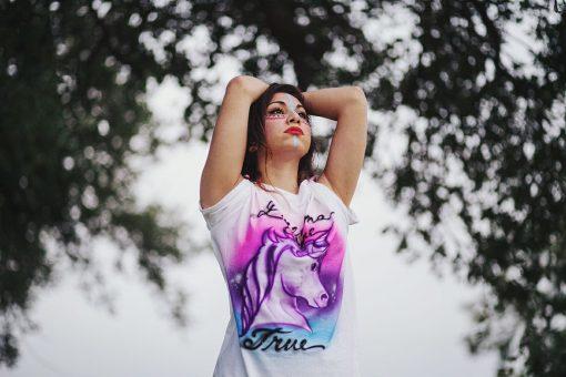 Airbrush Unicorn T Shirt   Dreams Come True   Handmade Clothing   Made in Texas