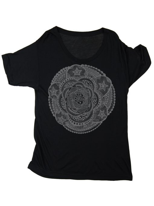 Mandala Slouchy Tee | Supermaggie | Made in Austin