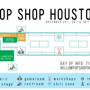 November 2014 Pop Shop Houston Festival Map