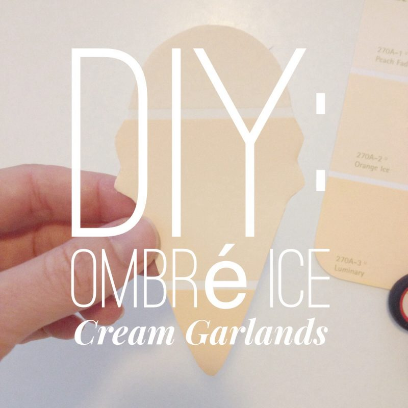 DIY Ombre Ice Cream Cone Garlands | How to Make Your Own Ombre Garlands with Paint Samples | Easy DIY Ideas | Fun Summer Decorations