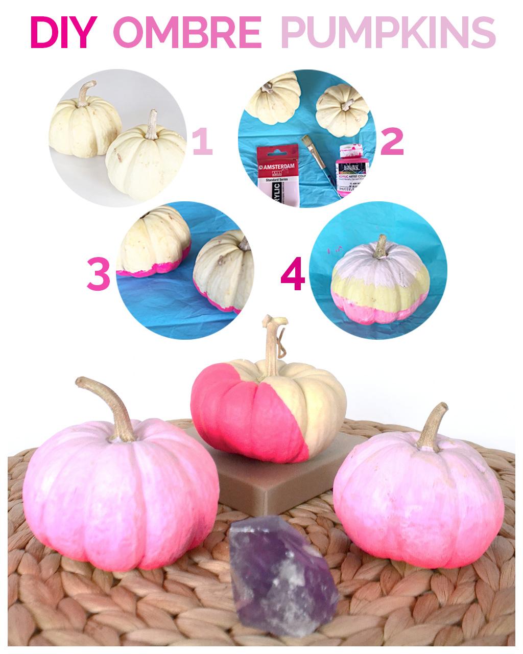 ombre pumpkin diy no carve pumpkin ideas for fall