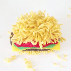 pom pom burger_Fotor | Complete Burger Pom Pom | How to Make a Yarn Pom Pom Burger on the Pop Shop America Craft Blog