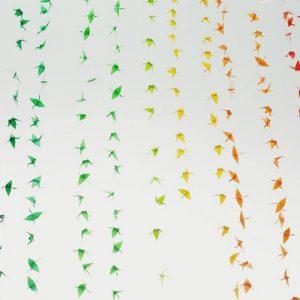 rainbow sculptures may 2014 | Origami Crane Sculpture by Josh Davis | Sculptures at Pop Shop Houston Art Festival