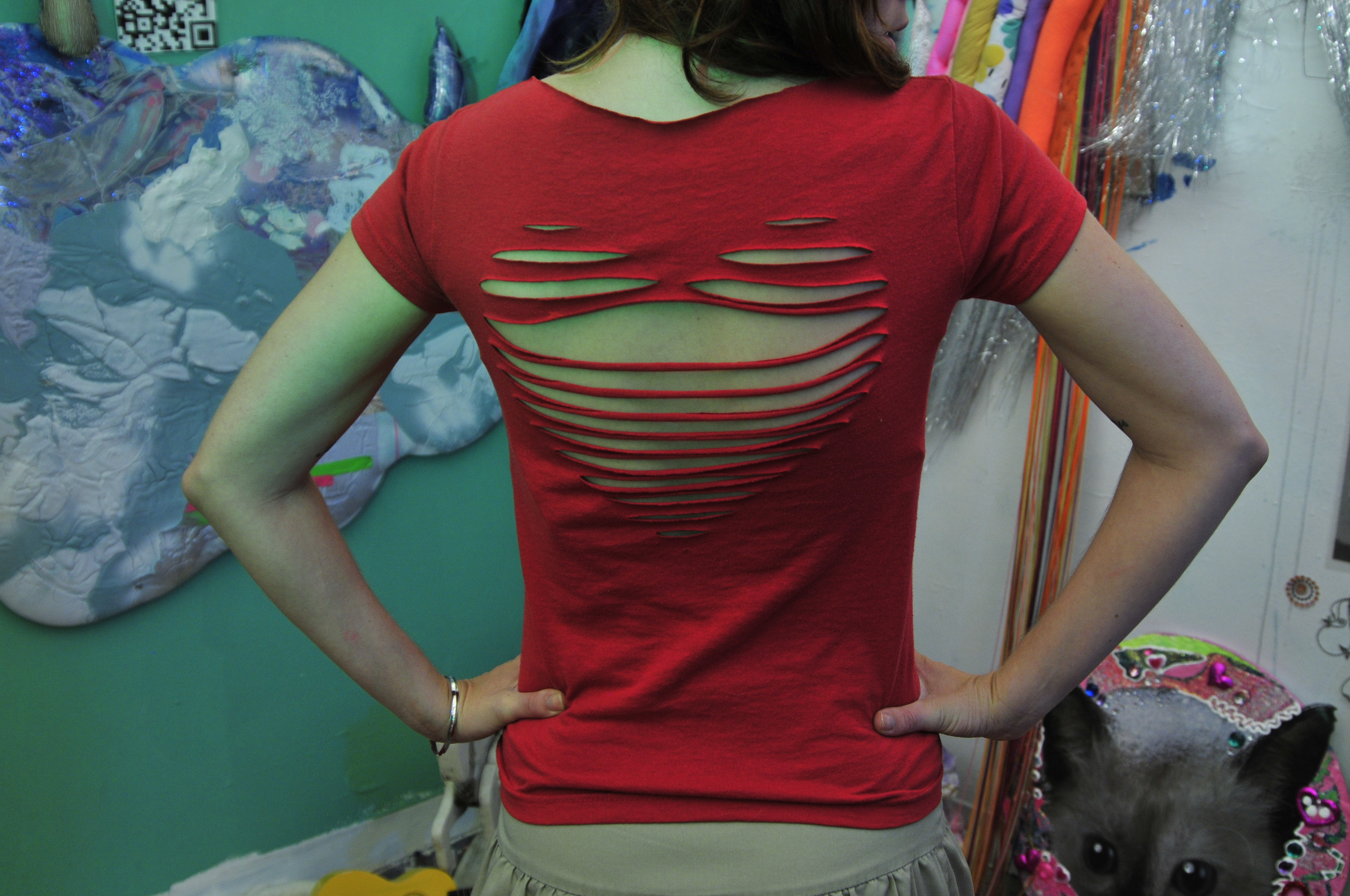 Cut Up Your Own T Shirt | T Shirt Alteration Craft Workshop at ...