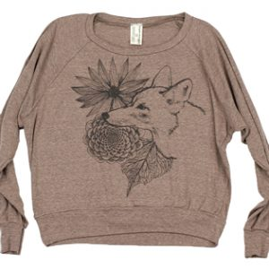 Supermaggie Coyote Coffee Tri Blend Pullover | Coyote Sweatshirt | Silkscreened Clothing Made in Austin Texas
