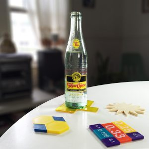 Topo Chico with Tangram Coasters | Things to Do with Tangram and Math Teacher Supplies | DIYs from the Pop Shop America Blog