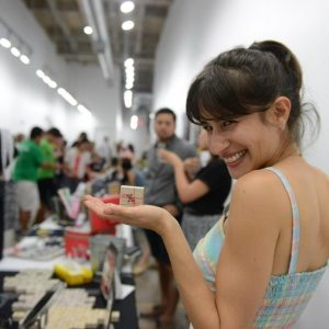 Maria Martinez with her natural makeup X. Compound | Natural Cosmetics from Texas at Pop Shop Houston Festival