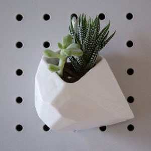 3d Printed Ceramic Planter   Geometric Hanging Planter by the Future Future   Planters Made in Brooklyn New York   Shop Planters and Terrariums at Pop Shop America
