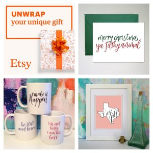 Etsy- Unique Gifts