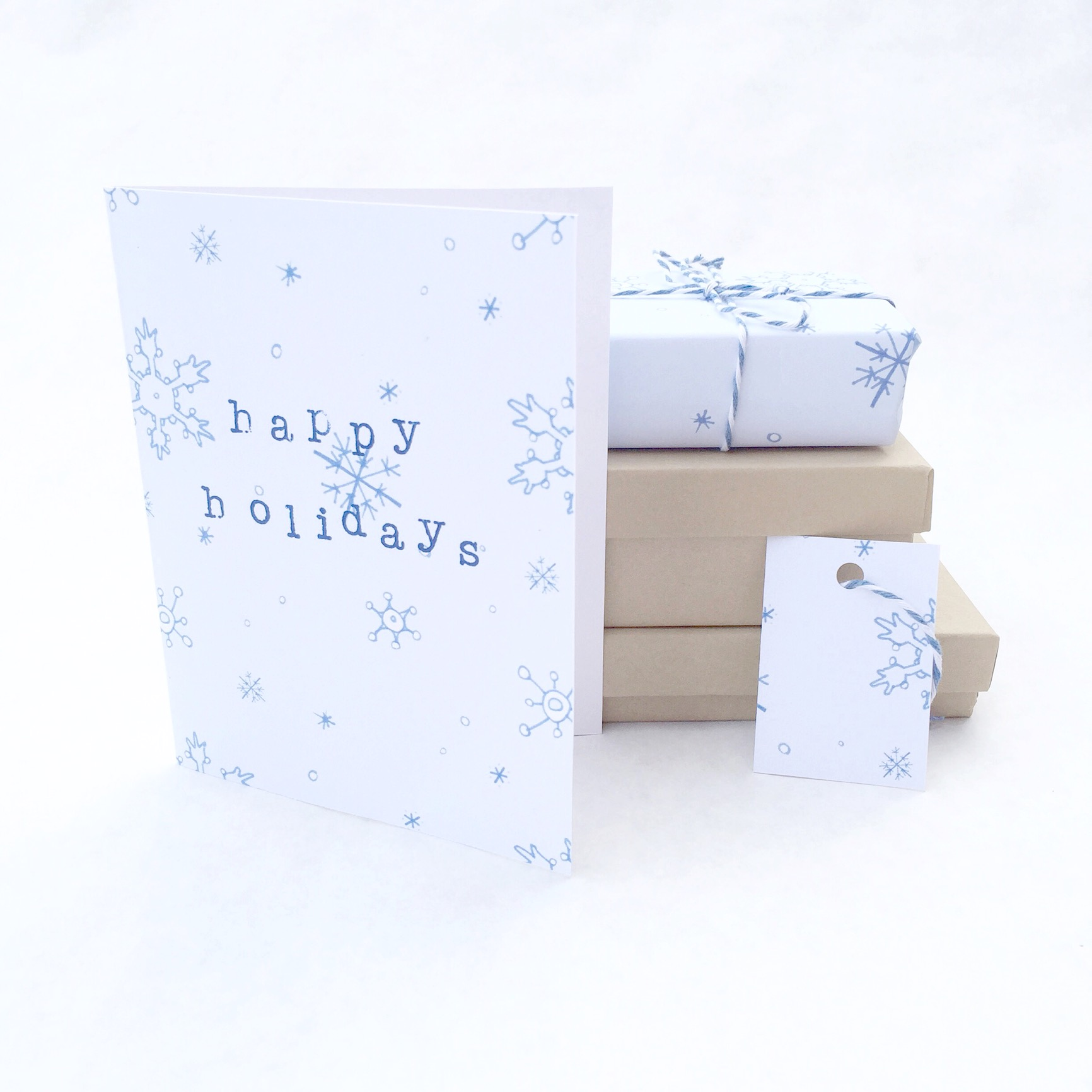 Snowflake Printable that you can Print at Home and Make Free Holiday Cards, Holiday Gift Tags, and Wrapping Paper | Homemade Christmas Gifts on the Pop Shop America DIY Blog