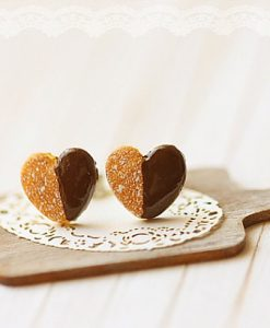 Heart Cookie Earrings | Shop these Small Stud Earrings at Pop Shop America | Cute Jewelry and lots of Fun Art for Sale on our Online Shopping Website