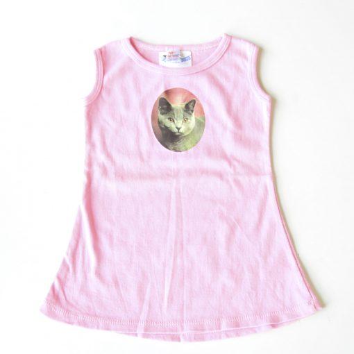 Blue Russian Dress - 12 mo kids dress - pink dresses from pop shop america