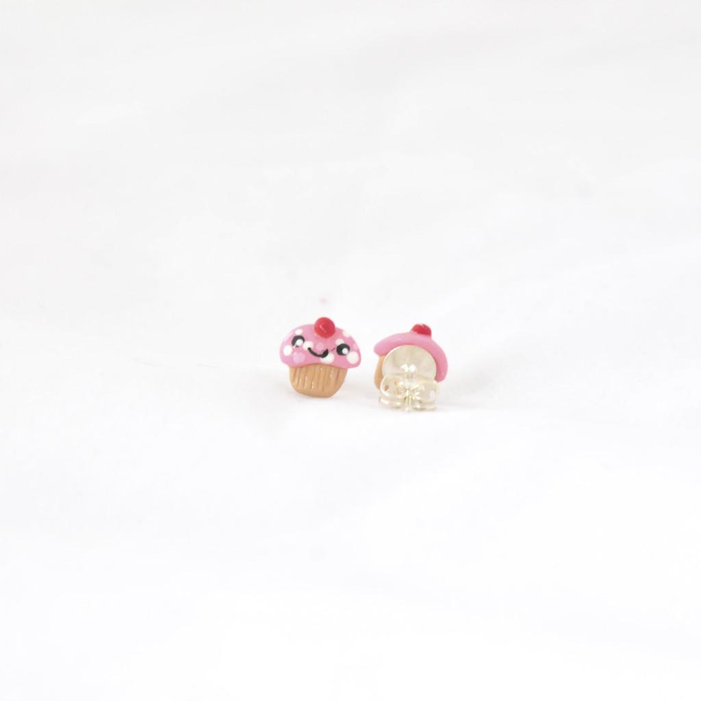 Cupcake Stud Earrings Handmade Earrings at Pop Shop America