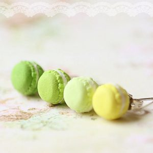 green macaron earrings pistachio macaron food jewelry pop shop america