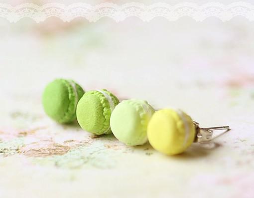 green macaron earrings pistachio macaron food jewelry pop shop america