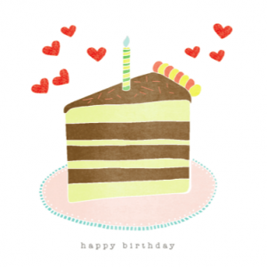 Detail of Happy Birthday Cake Slice Card by Hazelmade