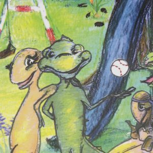 Detail of Book Cover Iggy the Iguana Paperback Houston Books