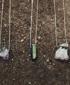 Long Geode Crystal Necklaces by Pop Shop America Handmade Jewelry Website