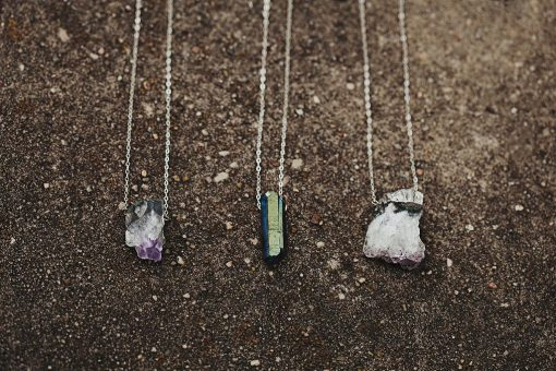 Amethyst & Quartz Necklaces Sterling Silver Necklaces Handmade Jewelry