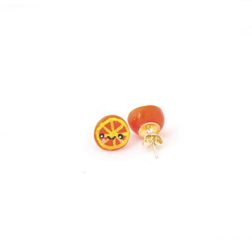 Orange Earrings Cute Kawaii Stud Earrings from Pop Shop America Design Shop