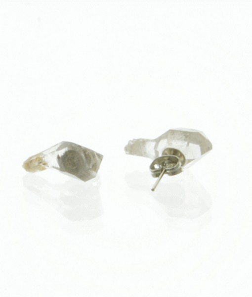 Raw Quartz Stud Earrings Crystal Point Earrings