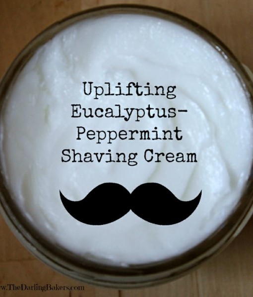 Uplifting Eucalyptus Peppermint Shaving Cream Men's Handmade Grooming Products