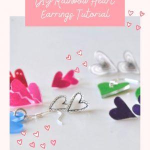 DIY Rainbow Heart Earrings Craft Tutorial Pop Shop America